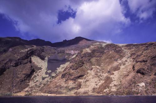 Eolie Islands, Sicily, Italy: Stromboli -  the isle as seen from the water