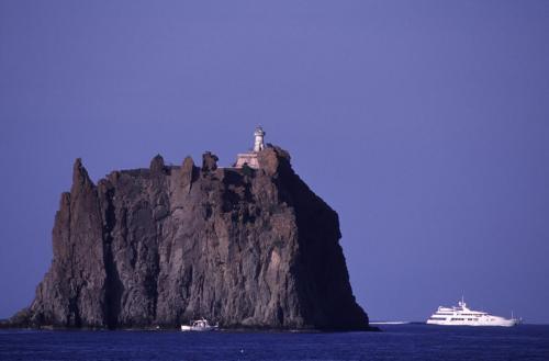 Eolie Islands, Sicily, Italy: Stromboli -  the rock of Strombolicchio