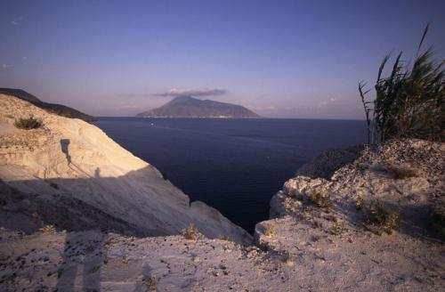 Eolie Island, Sicily:  Lipari -  view over Salina