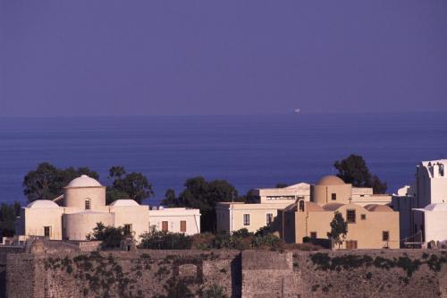 Eolie Island, Sicily, ITALY: Lipari - view over the Castello