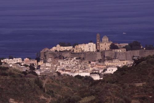Eolie Island, Sicily, ITALY: Lipari - view over the Castello