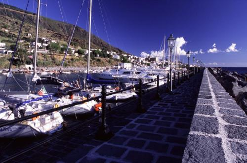 Eolie Islands, Sicily, Italy: Salina - port of  Salina Marina