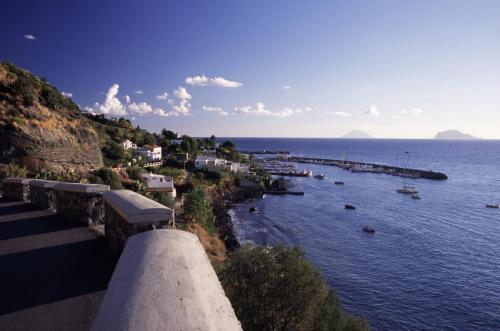 Eolie Islands, Sicily, Italy: Salina - view over the village of Salina Marina